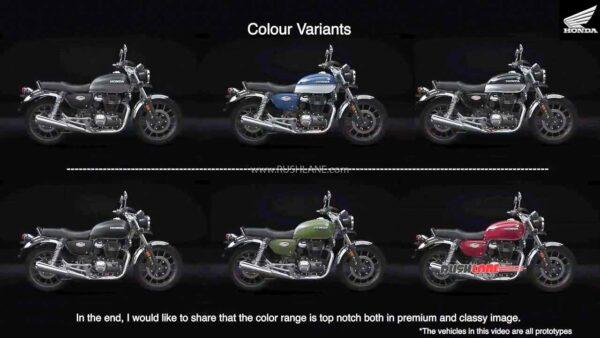 Honda CB350 Colours