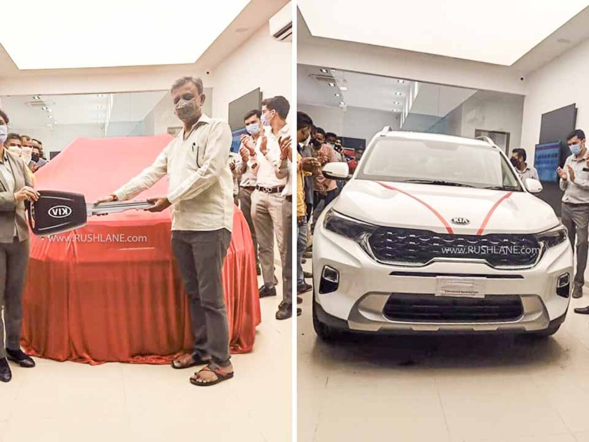 Kia Sonet First Owner Takes Delivery On Road Prices Rs 15 L For Top Variant