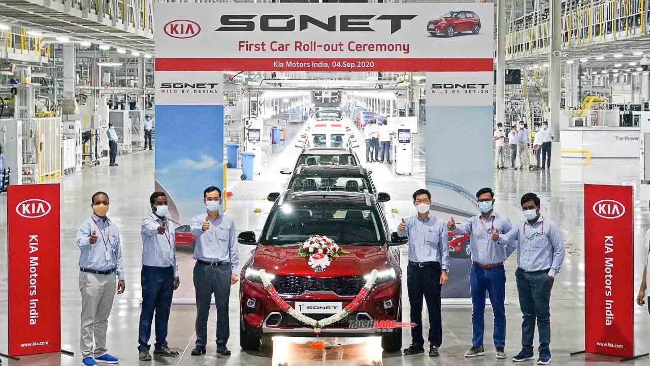 Kia Sonet Production Starts in India