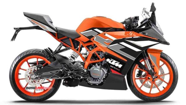KTM RC 200 New Colour - Electric Orange