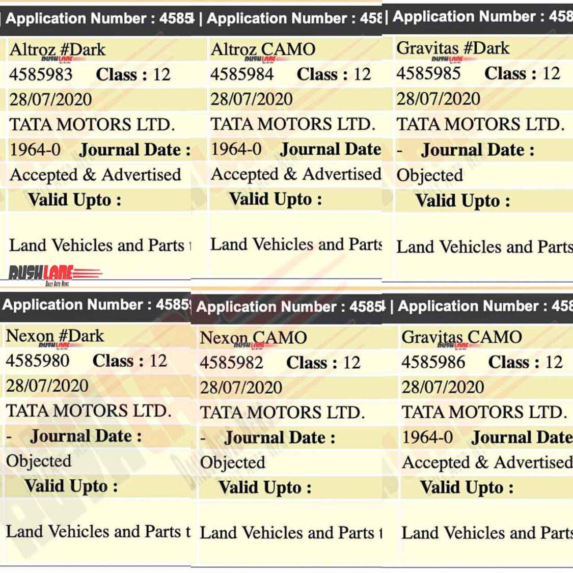 Tata Dark and Camo Editions
