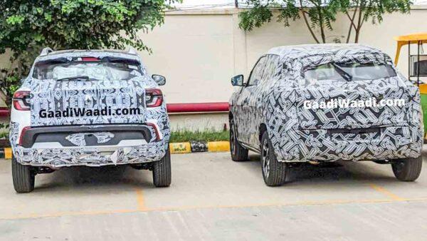 Renault Kiger spied with Nissan Magnite