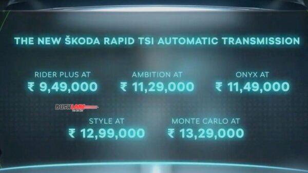 Skoda Rapid Automatic Prices