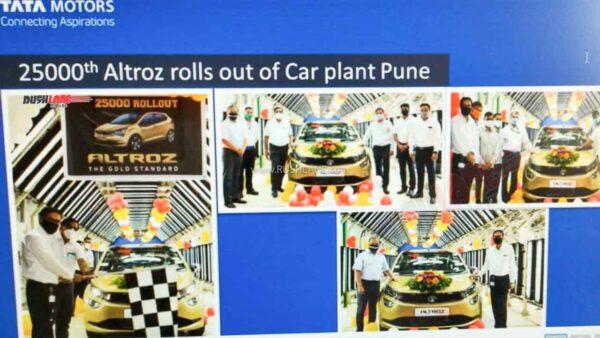Tata Altroz 25,000th unit production milestone