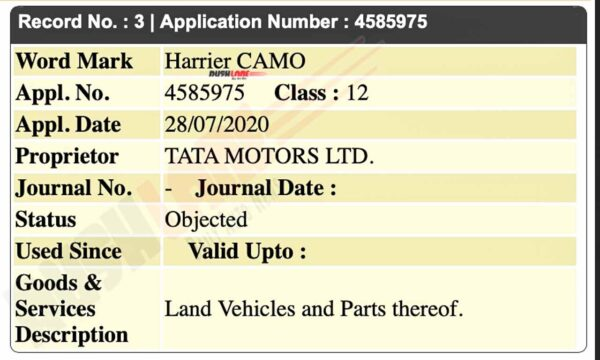 Tata Harrier Camo Edition