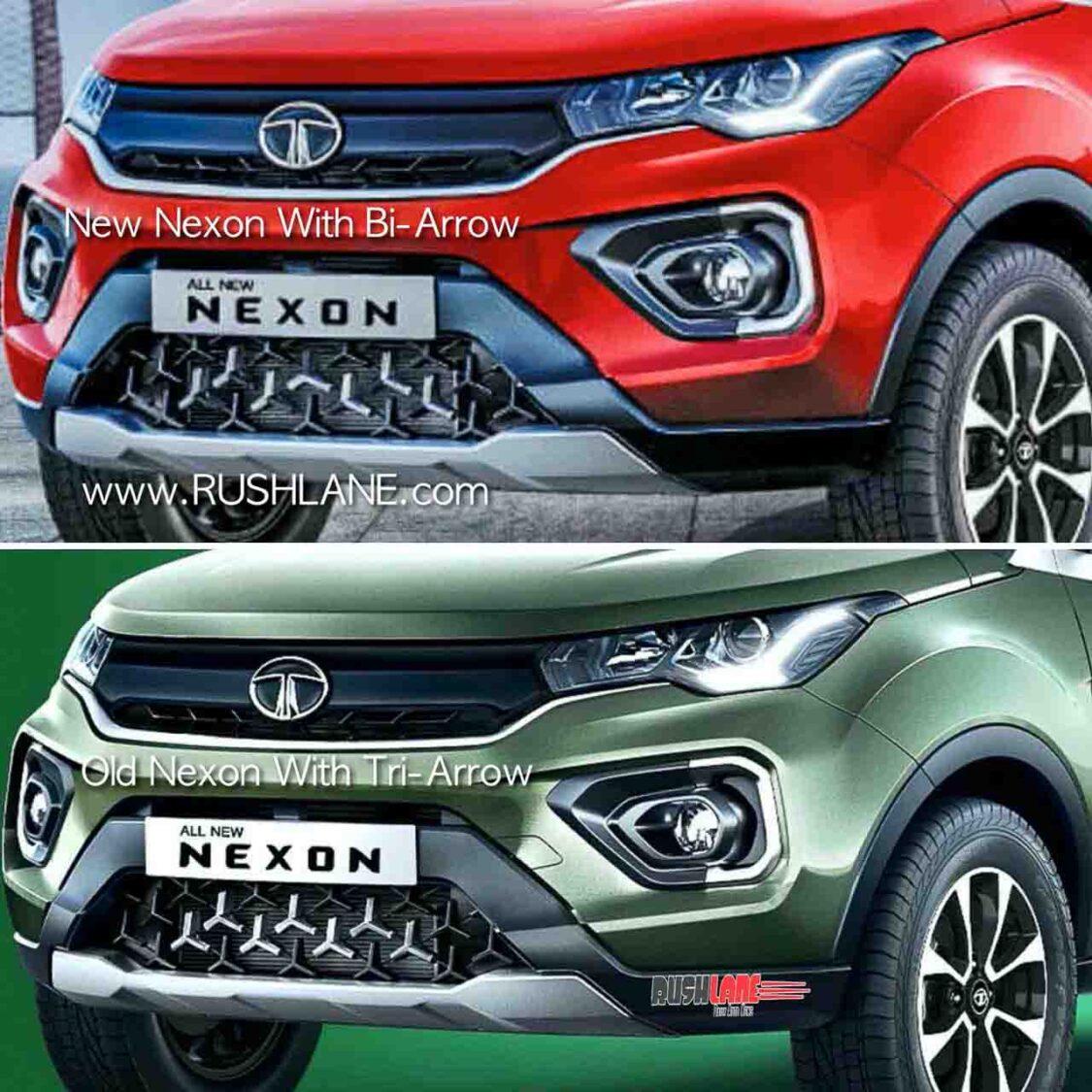 Tata Nexon Bi-Arrow Grille Design