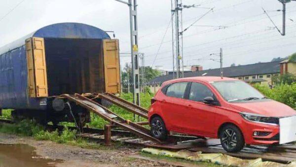 Tata Tiago Transport via Train