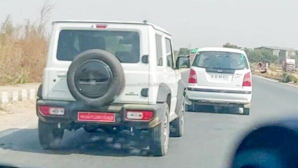 Maruti Jimny Spied in India