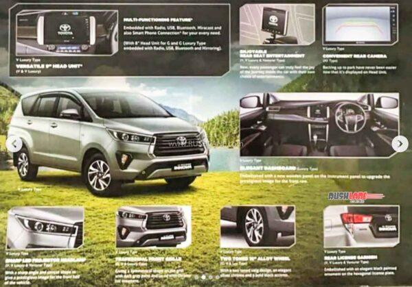 2021 Toyota Innova Facelift Brochure