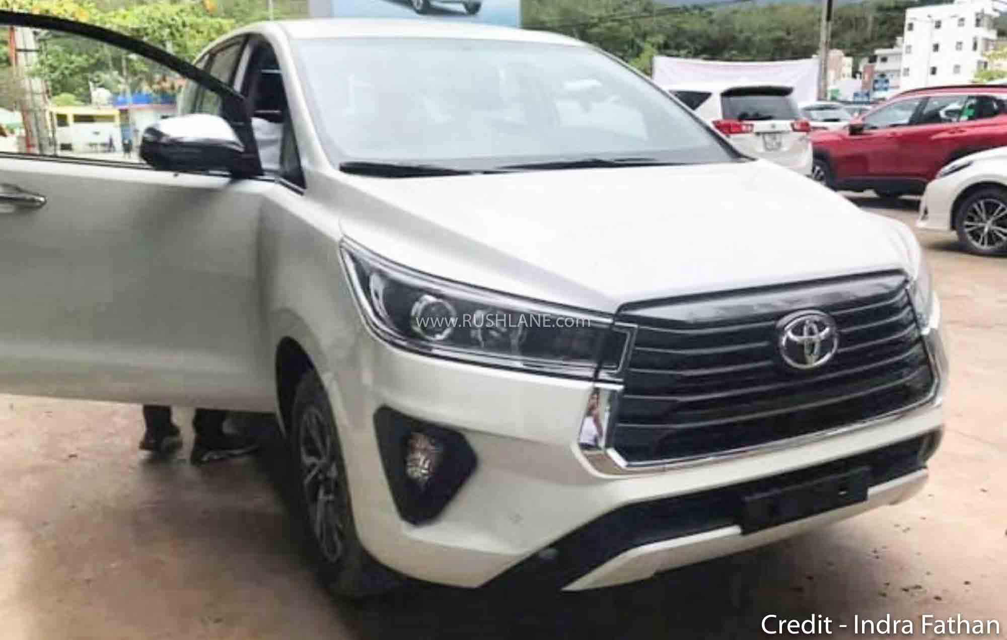 2021 toyota innova crysta spied in white colour  new