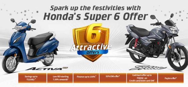 Honda Discount Offers Oct 2020