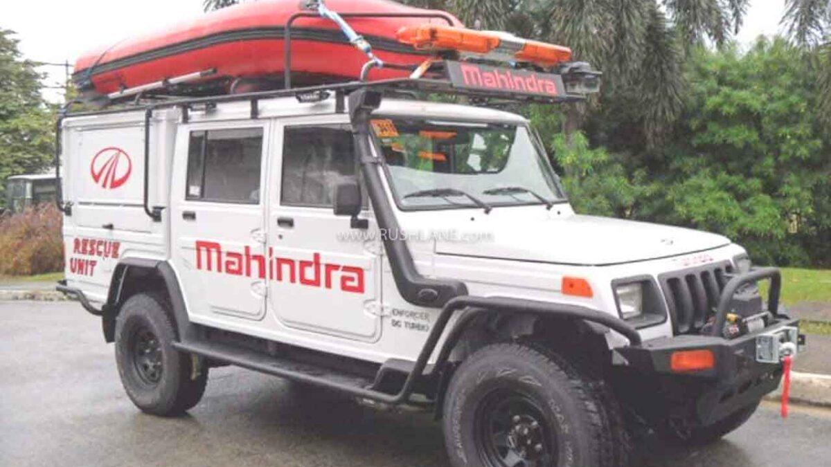 Mahindra Bolero Modified Into A Rescue Unit Made For Saving Lives