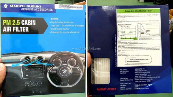 Maruti Cars PM 2.5 Cabin Air Filter