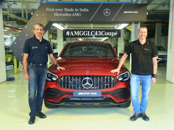 First Mercedes AMG GLC 43 Coupe To Roll Out Of India Plant