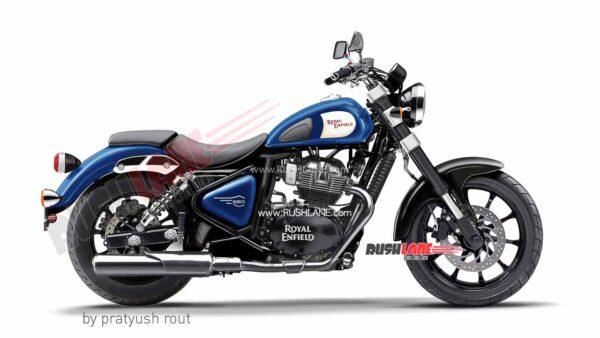 Royal Enfield 650cc Cruiser Blue Colour