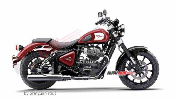 Royal Enfield 650cc Cruiser Red Colour