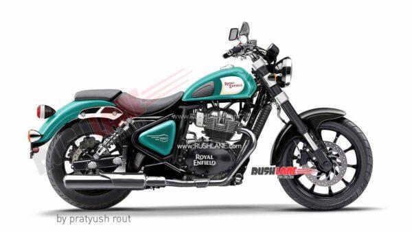 Royal Enfield 650cc Cruiser Teal Colour