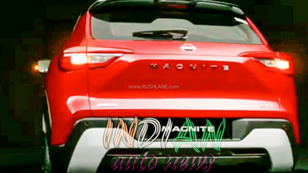 Magnite with New Nissan Logo