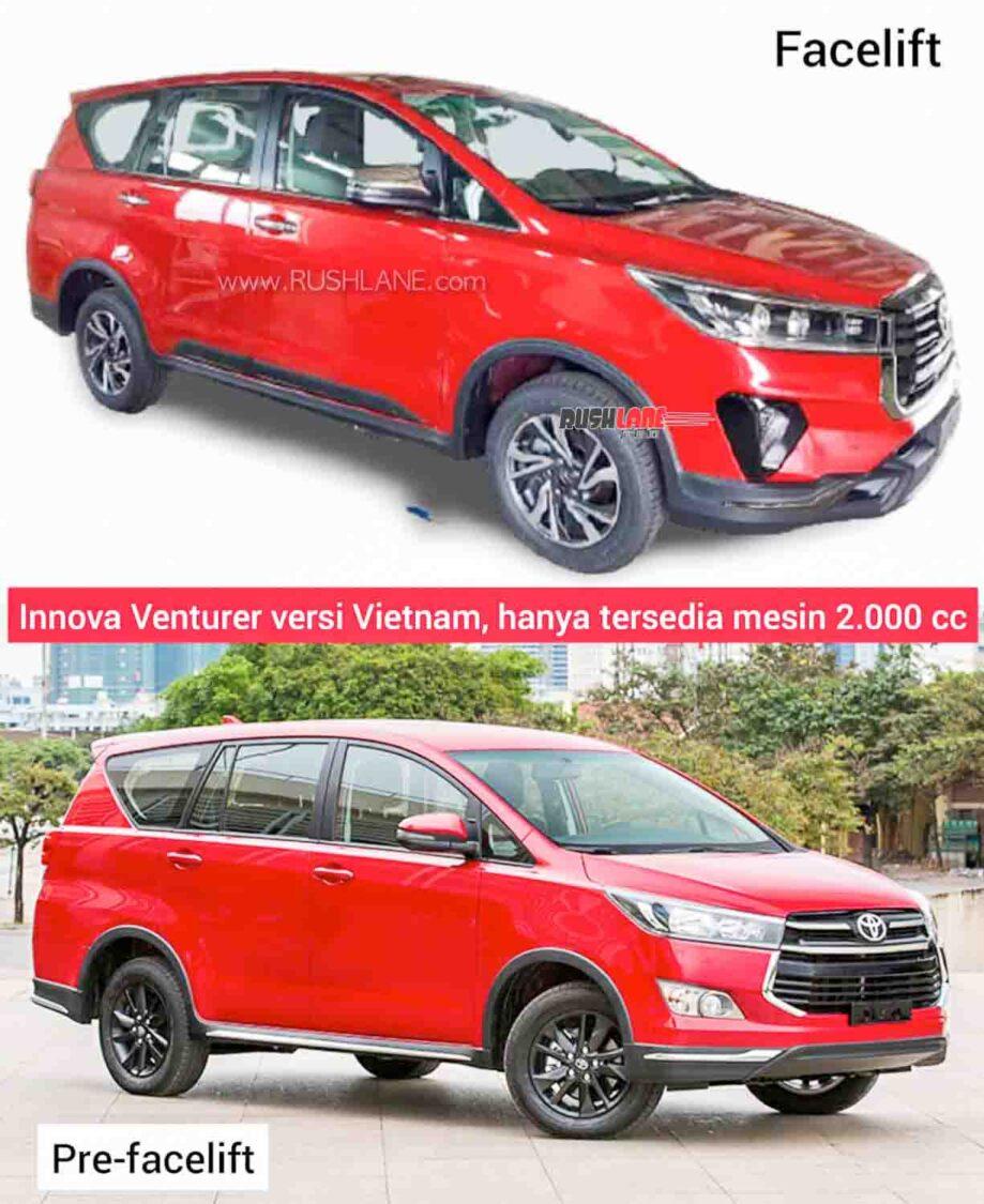 Old vs New Toyota Innova Crysta Touring Sport