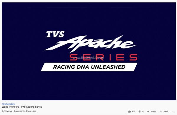 TVS Apache 4 Million webcast