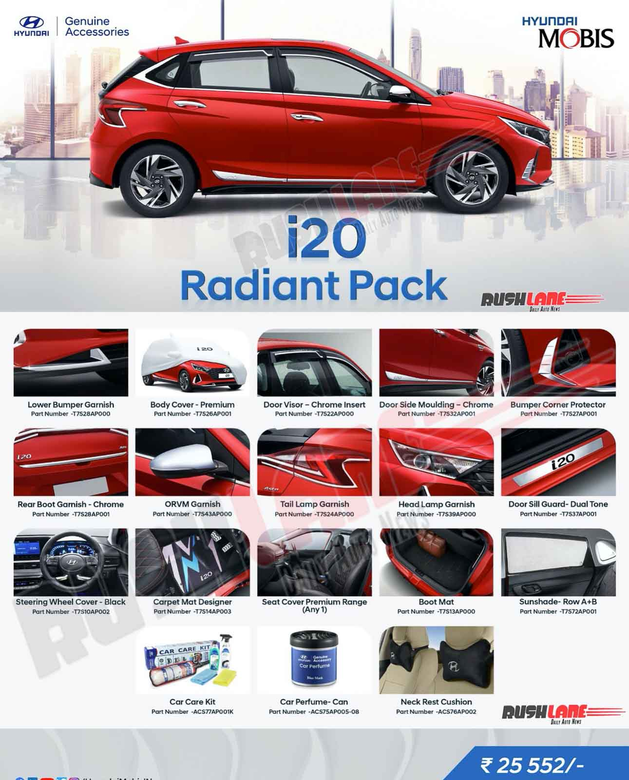 Hyundai i20 Radiant Accessory Pack