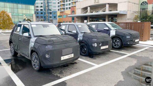 Hyundai AX1 Micro Crossover spied next to Creta