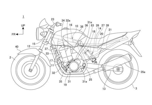 Honda CB 250cc patent leaks