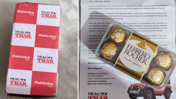 Mahindra Thar Chocolate Box