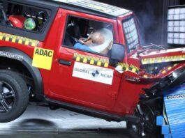2020 Mahindra Thar Crash Test