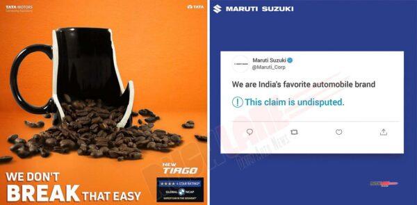 Maruti vs Tata on Twitter