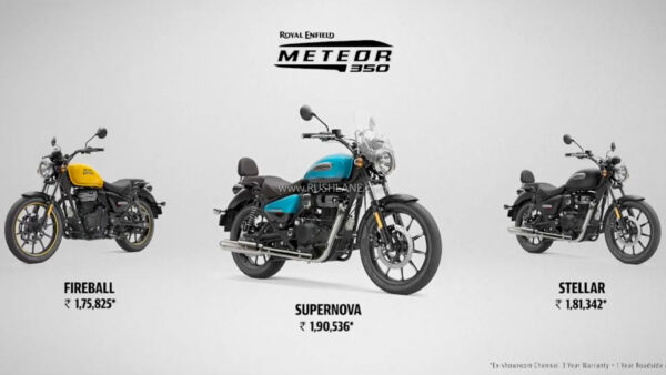 Royal Enfield Meteor 350 Variants and Price
