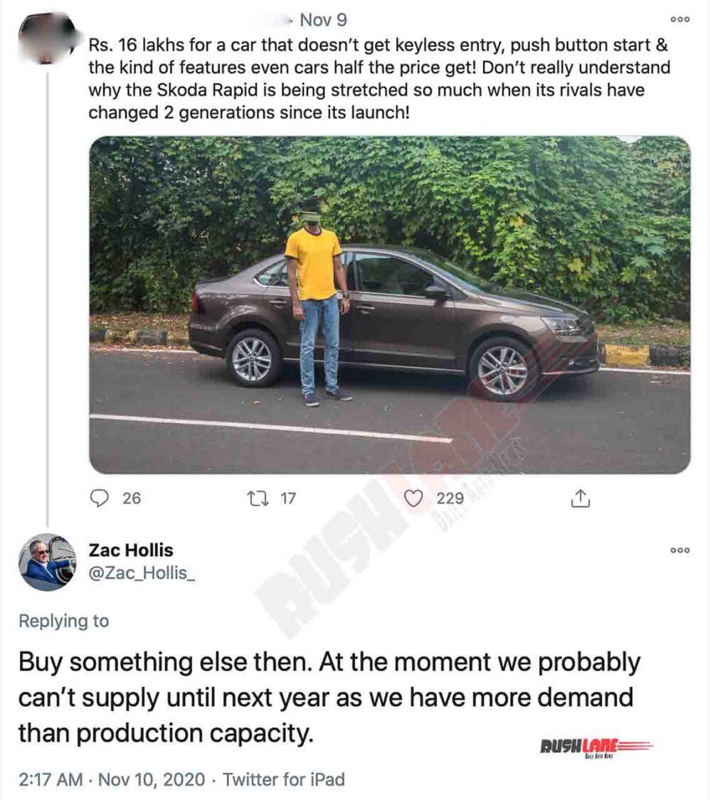Skoda Rapid User vs Skoda India Head