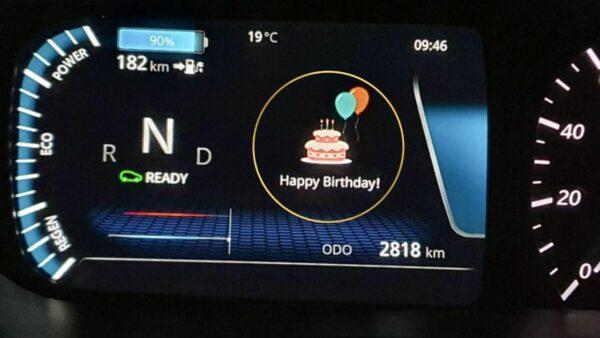 Tata Nexon EV wishes Happy Birthday to Owner