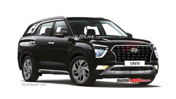 2021 Hyundai Creta 7 Seater Black