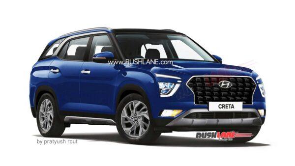 2021 Hyundai Creta 7 Seater Blue
