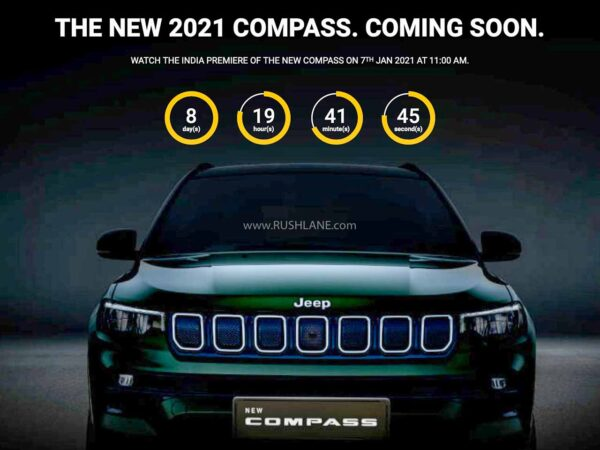 2021 Jeep Compass India Debut Countdown