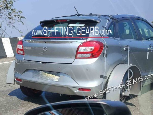 Maruti Baleno Hybrid variant spied on test by ARAI