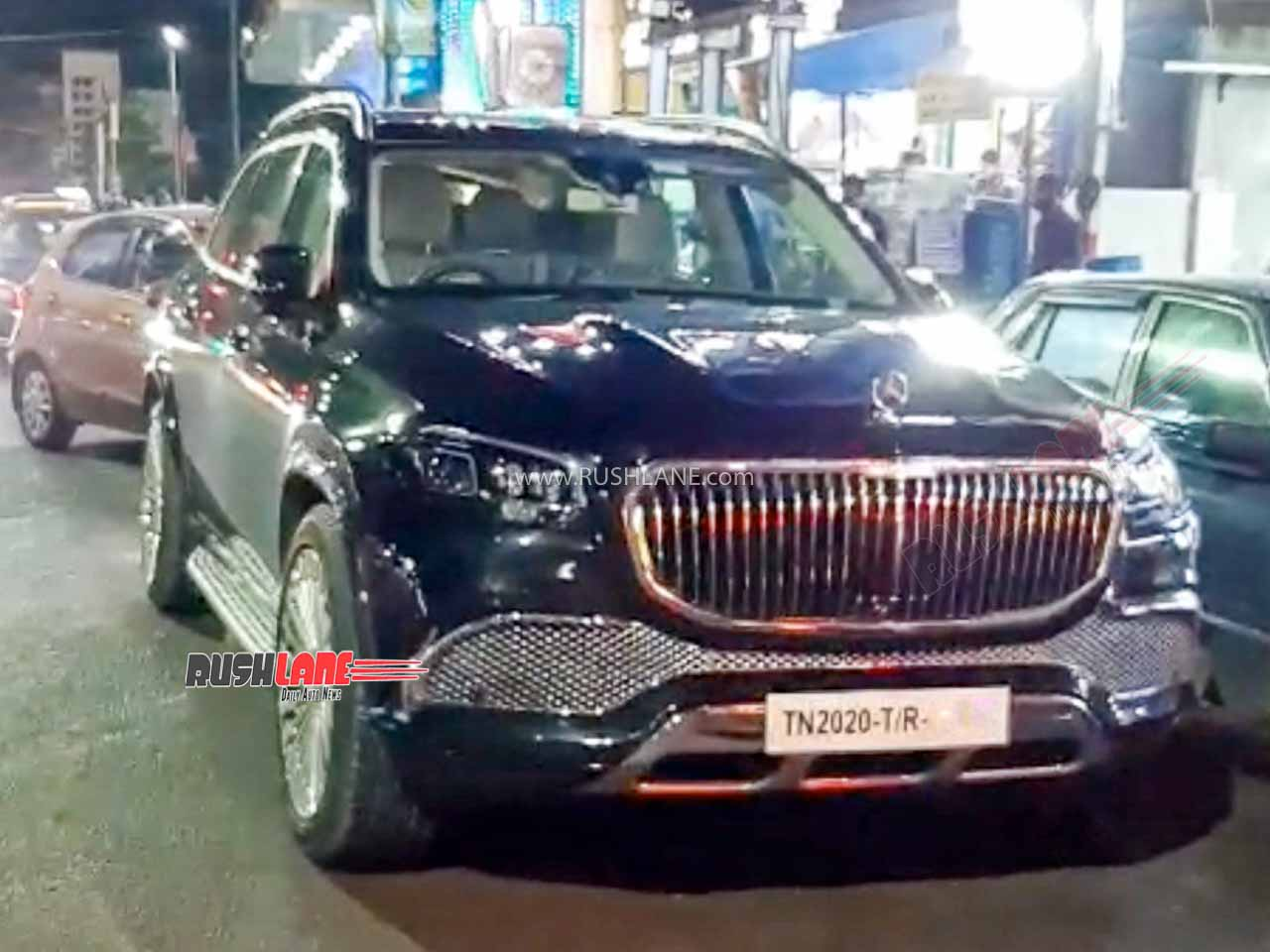 Mercedes Gls Suv With Maybach Mod Kit Spotted In India