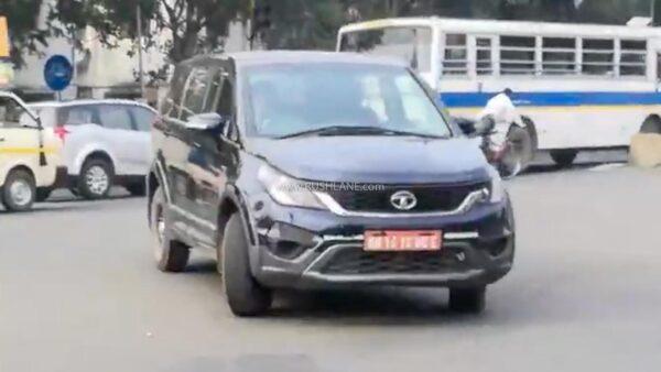 2021 Tata Hexa BS6 Spied