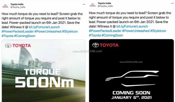 2021 Toyota Fortuner Teaser