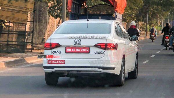 Volkswagen Virtus Sedan Spied in India