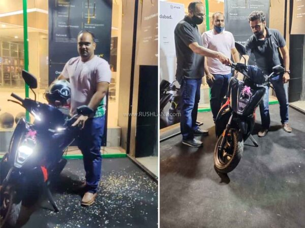 Ather 450x 1st delivery of Ahmedabad