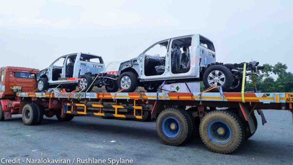 Ford Ranger pickup spied in India