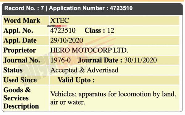 Hero XTEC name registered