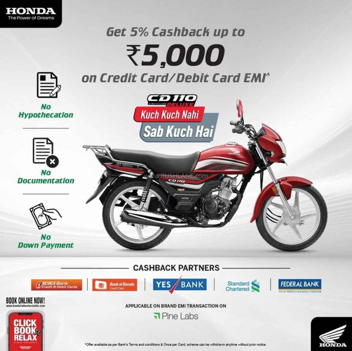 Honda CD110 Cashback Offer