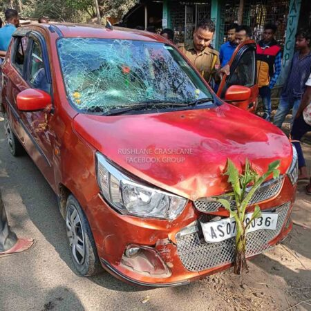 Maruti Alto Crash