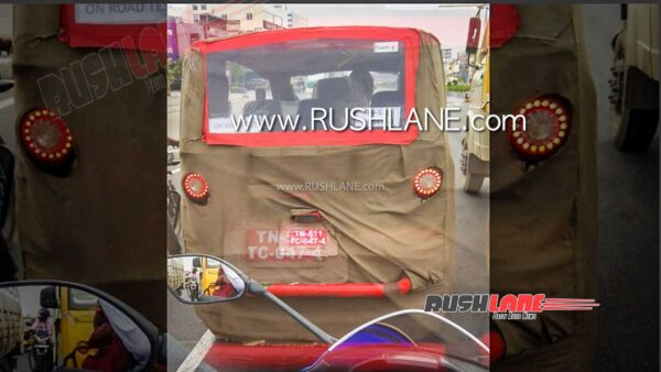 New electric rickshaw spied