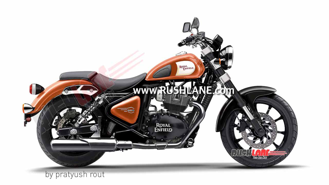 2021 Royal Enfield 650cc Cruiser Imagined In 8 Colour Options - RushLane