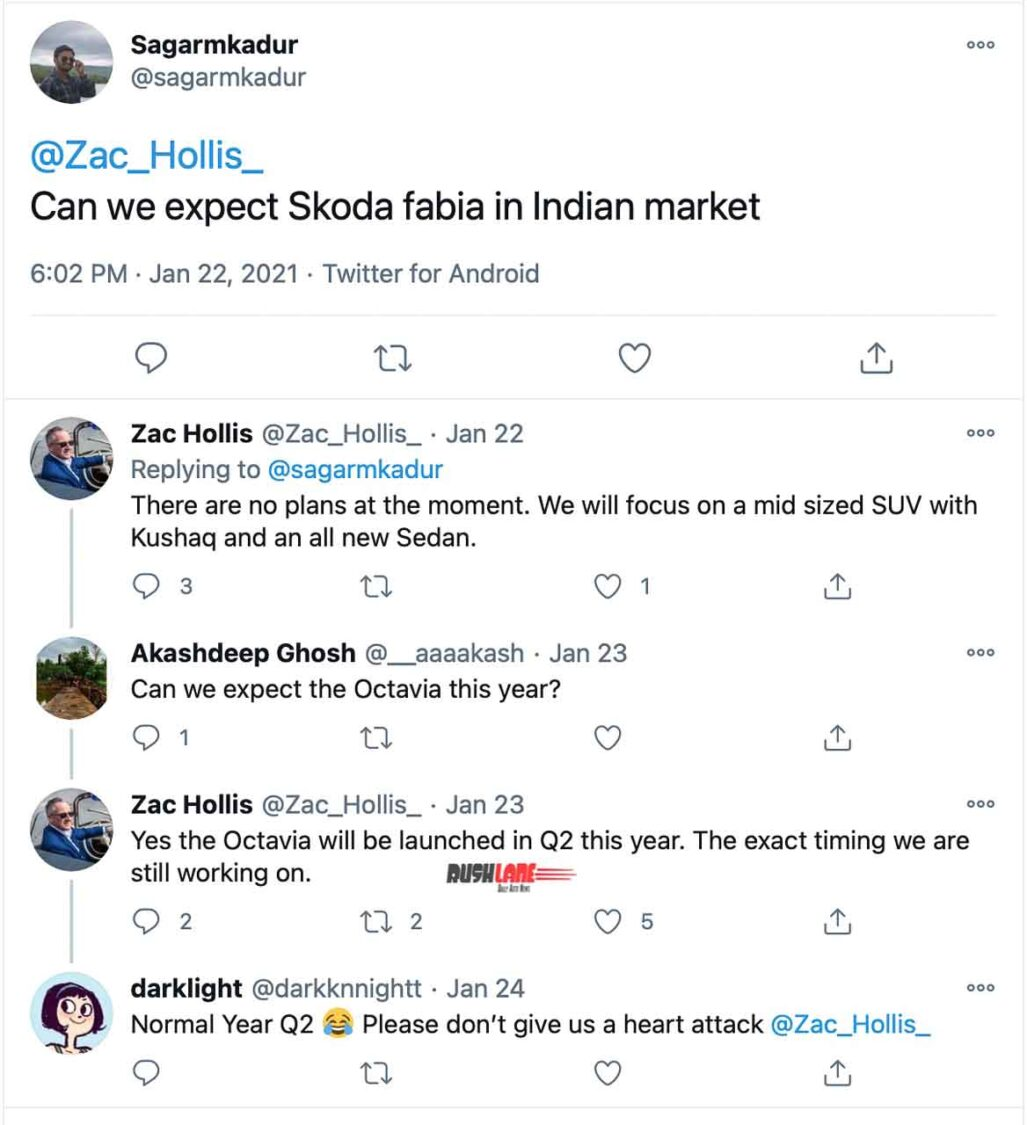 Skoda India Launch Plans