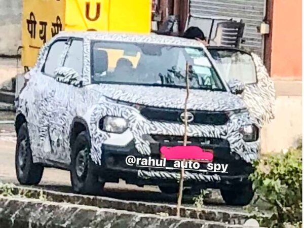 Tata HBX Front Spied